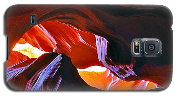 Galaxy S5 Case featuring the photograph Somewhere In Waves In Antelope Canyon by Lilia D