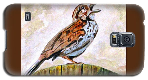 Galaxy S5 Case featuring the painting Song Sparrow by Angela Davies