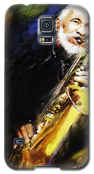 Galaxy S5 Case featuring the painting Sonny Rollins Groovin' The Sax by Ted Azriel
