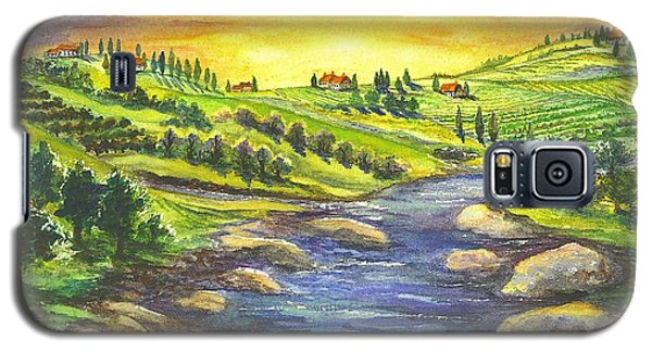 Galaxy S5 Case featuring the painting Sonoma Country by Carol Wisniewski