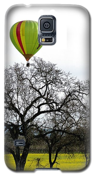 Sonoma Hot Air Balloon Over Mustard Field Galaxy S5 Case