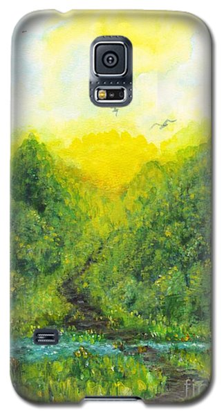 Galaxy S5 Case featuring the painting Sonsoshone by Holly Carmichael