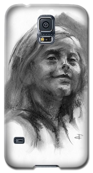 Galaxy S5 Case featuring the drawing Sophie by Paul Davenport