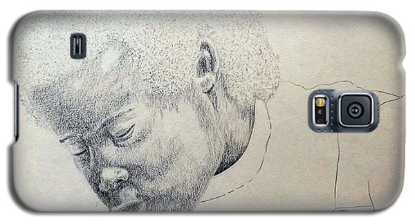 Galaxy S5 Case featuring the drawing Sorrow by Richard Faulkner
