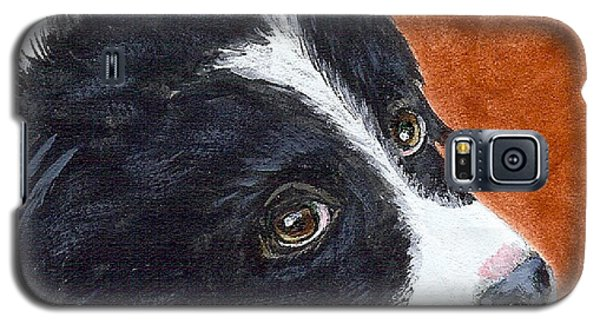 Galaxy S5 Case featuring the painting Soulful Eyes by Fran Brooks