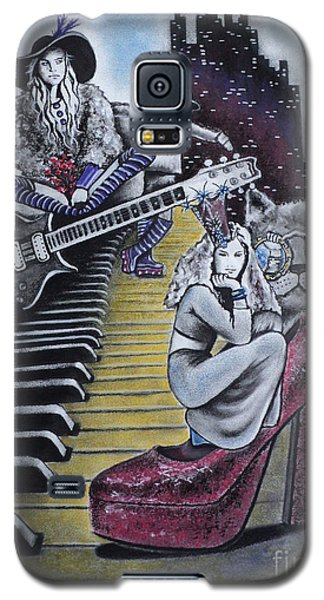 Galaxy S5 Case featuring the drawing Sounds Of The 70s by Carla Carson
