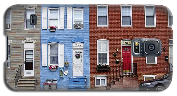 Galaxy S5 Case featuring the photograph South Baltimore Row Homes by Brian Wallace