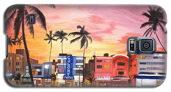 South Beach Ocean Drive Galaxy S5 Case by Kevin F Heuman