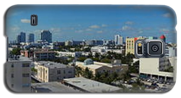 Galaxy S5 Case featuring the photograph South Beach Sofi District by J Anthony