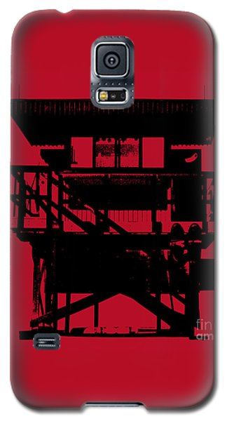 Galaxy S5 Case featuring the digital art South Beach Lifeguard Stand by Jean luc Comperat