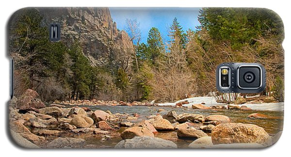 Galaxy S5 Case featuring the photograph South Boulder Creek - Eldorado Canyon State Park by Tom Potter