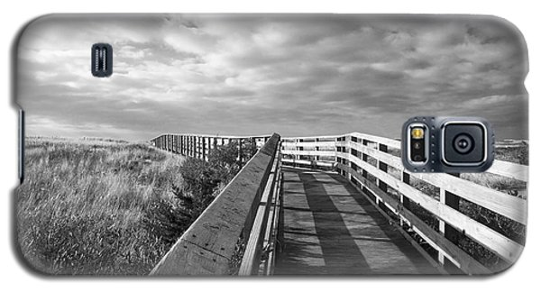 Galaxy S5 Case featuring the photograph South Cape Beach Boardwalk by Brooke T Ryan