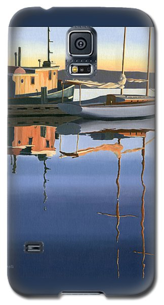 Galaxy S5 Case featuring the painting South Harbour Reflections by Gary Giacomelli