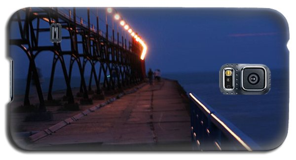 South Haven Pier At Twilight Galaxy S5 Case by Bill Woodstock