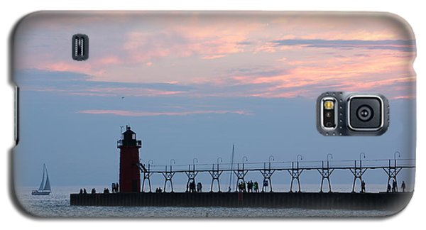 South Haven Sunset With Sailboat Galaxy S5 Case by Bill Woodstock