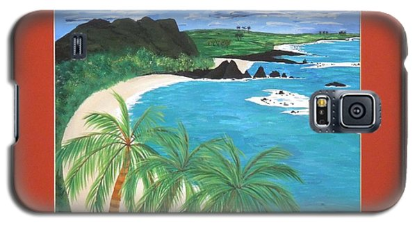 Galaxy S5 Case featuring the painting South Pacific by Ron Davidson