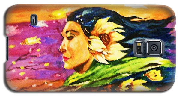 Galaxy S5 Case featuring the painting South Sea Breeze  Fleeting Blossoms by Al Brown