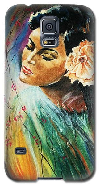 Galaxy S5 Case featuring the painting South Sea Flower by Al Brown