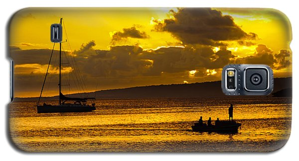South Sea Sunset - Ferry And Yacht At Port Vila - Vanuatu - South Pacific.  Galaxy S5 Case