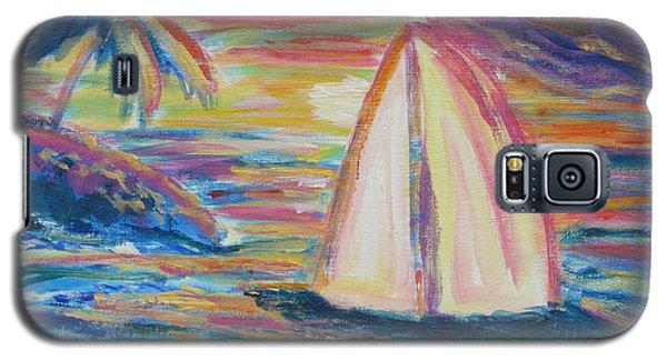 South Seas Sunset Galaxy S5 Case by Diane Pape