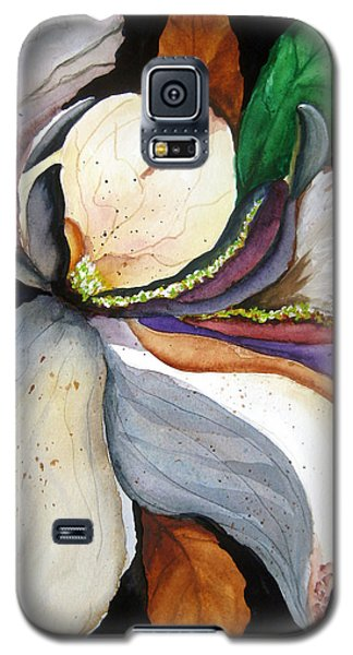 Galaxy S5 Case featuring the painting White Glory II by Lil Taylor