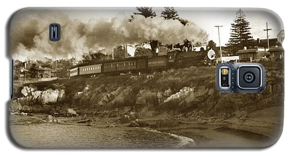 Southern Pacific Del Monte Passenger Train Pacific Grove Circa 1954 Galaxy S5 Case by California Views Mr Pat Hathaway Archives