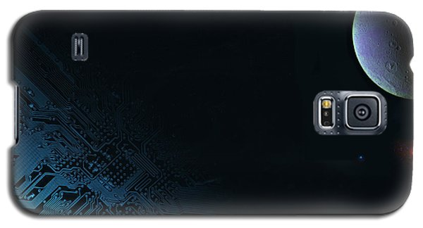 Space And Communication Galaxy S5 Case by Christian Lagereek