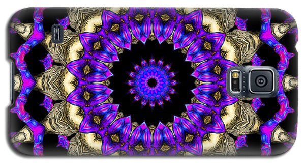 Galaxy S5 Case featuring the digital art Space Flower 3d Art by Hanza Turgul