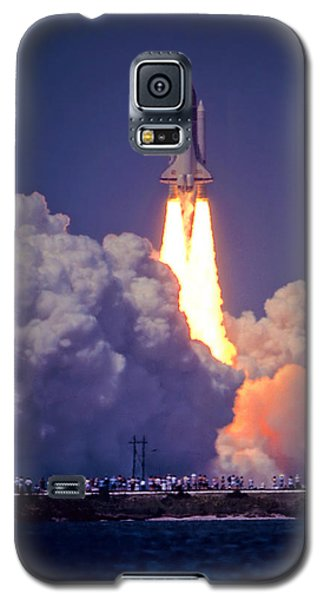 Space Shuttle Challenger Sts-6 First Flight 1983 Photo 1  Galaxy S5 Case by Marie Hicks