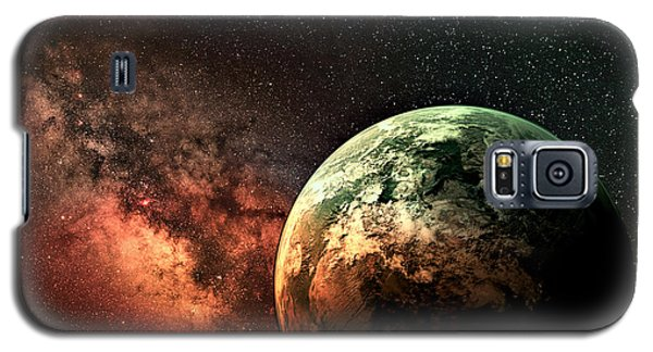 Spaced Out Galaxy S5 Case by Ally  White