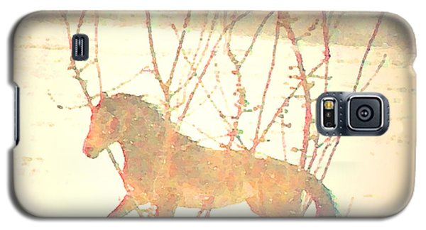 Galaxy S5 Case featuring the photograph Spanish Mustang Running Free In April Snow  by Anastasia Savage Ealy