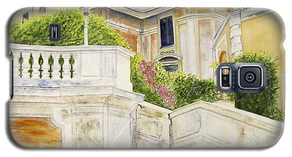 Galaxy S5 Case featuring the painting Spanish Steps by Carol Flagg