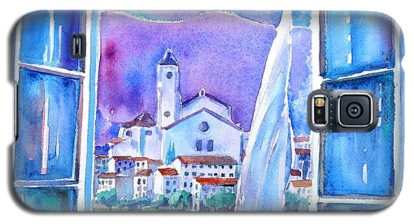 Spanish Window In Cadaques And The Church Of Santa Maria Galaxy S5 Case