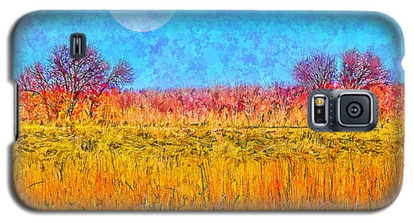 Galaxy S5 Case featuring the digital art Moonlight Over Fields Of Gold - Boulder County Colorado by Joel Bruce Wallach