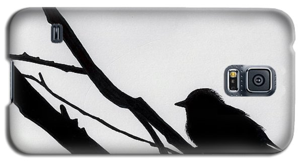 Galaxy S5 Case featuring the drawing Sparrow In A Gray Sky by D Hackett