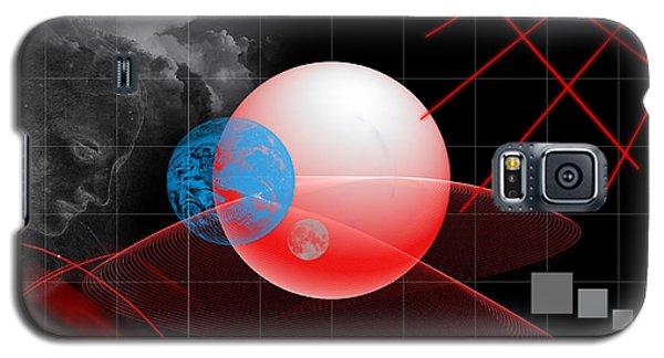 Galaxy S5 Case featuring the digital art Spatial Geometry. by Angel Jesus De la Fuente