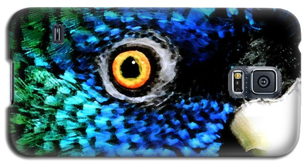Galaxy S5 Case featuring the painting Speaking Eye  by Colette V Hera  Guggenheim
