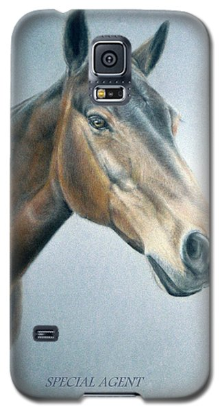 Galaxy S5 Case featuring the painting Special Agent by Rosemary Colyer
