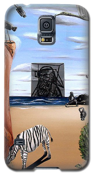 Galaxy S5 Case featuring the painting Species Differentiation -darwinian Broadcast- by Ryan Demaree