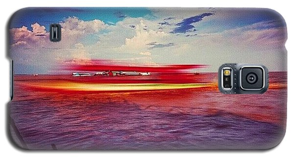 Sunny Galaxy S5 Case - Speed Boat Passing The Floating Village by Sunny Merindo