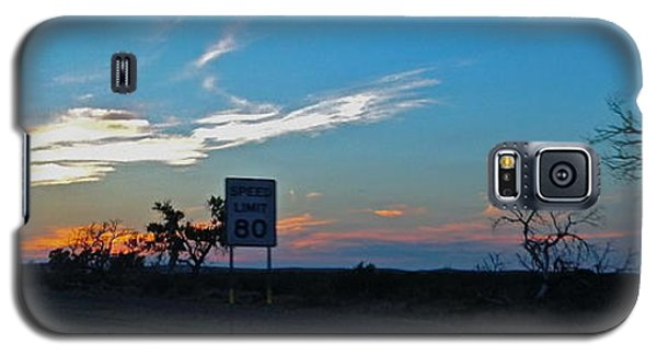 Galaxy S5 Case featuring the photograph Speed Limit 80mph - No.0027 by Joe Finney