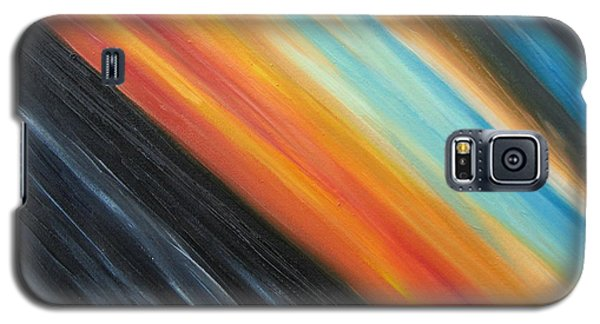 Galaxy S5 Case featuring the painting Speedy Sunset by Tiffany Davis-Rustam