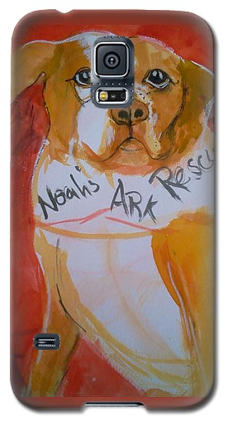Galaxy S5 Case featuring the painting Spencer The Pit Bull by Gertrude Palmer