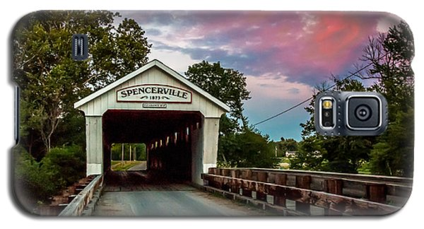 Spencerville Covered Bridge At Sunset Galaxy S5 Case