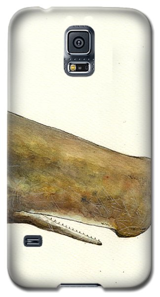 Whale Galaxy S5 Case - Sperm Whale First Part by Juan  Bosco