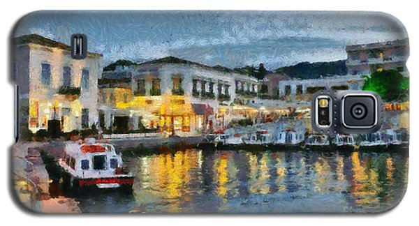 Spetses Town During Dusk Time Galaxy S5 Case