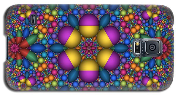 Galaxy S5 Case featuring the digital art Sphere Packed Hyperbolic Disk by Manny Lorenzo