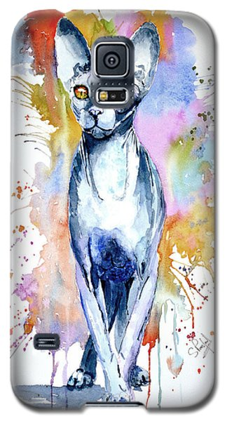 Galaxy S5 Case featuring the painting Sphinx Cat by Steven Ponsford