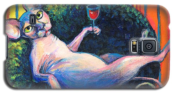 Sphynx Cat Relaxing Galaxy S5 Case
