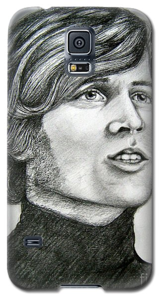 Galaxy S5 Case featuring the drawing  A Young Barry Gibb by Patrice Torrillo